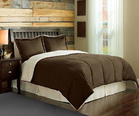 Comforter Softness 3-Piece Bark Sherpa Queen Set