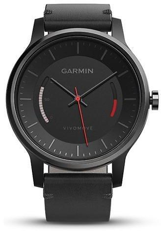 Garmin Vivomove Activity Tracking Watch With Leather Band