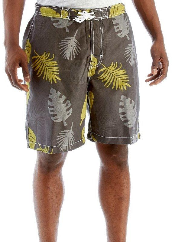 Quicksilver Palm Shade Print Swim Trunk