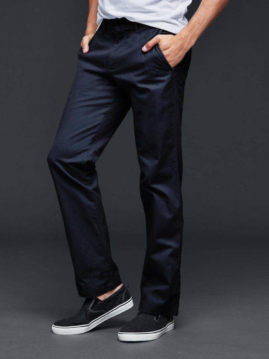 Men Classic Straight Fit Khakis With Free Shipping