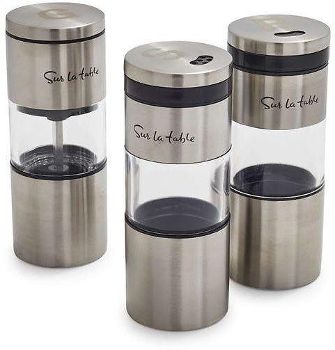 3 Set Of Sur La Table Magnetic Grilling Spice Shakers