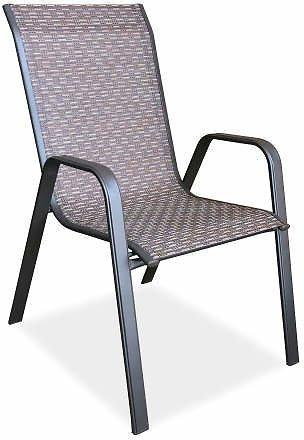 Fabric Wilson And Fisher Ashford Brown Sling Patio Chair