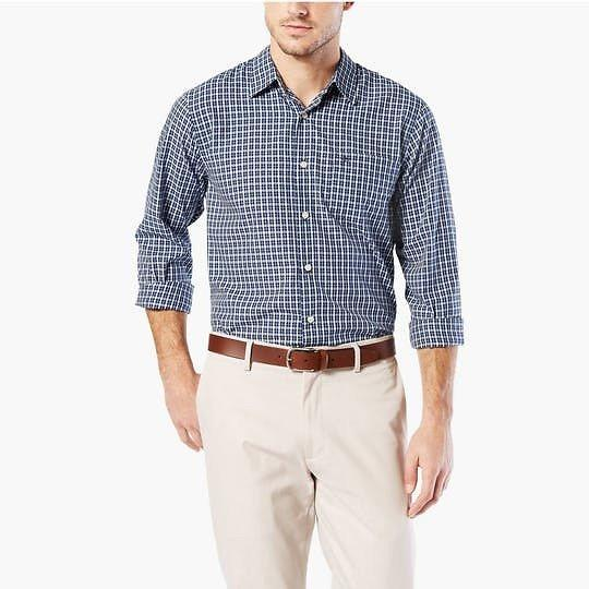 Medieval Blue Plaid Standard Fit Casual Shirt