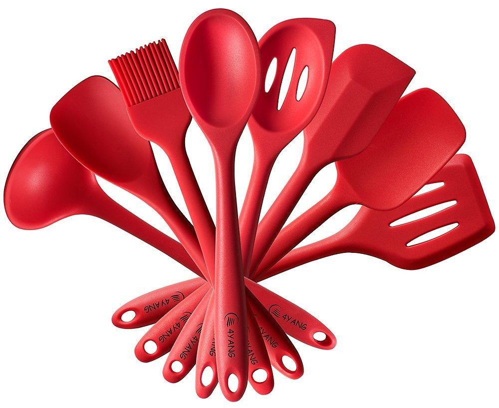 amazon coupons sept 2017 promo codes 4yang silicone spatula cooking utensil set heat resistant kitchen gadgets