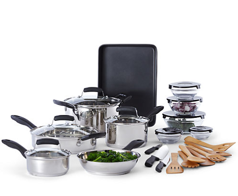 Ultra Modern Stainless Steel Cookware Set