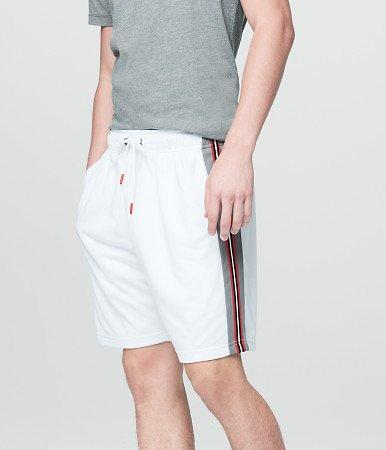 Breathable Stripe Mesh Athletic Shorts