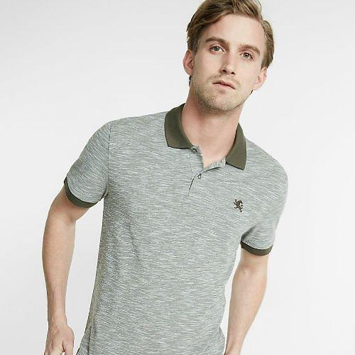 Classic Ribbed Fabric Lion Pique Polo