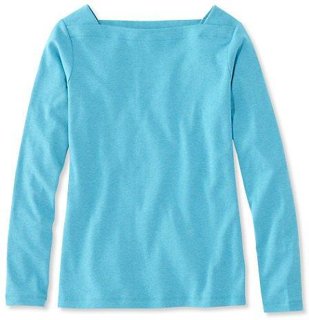 Long Sleeve Women L.L.Bean Square Boatneck Pullover