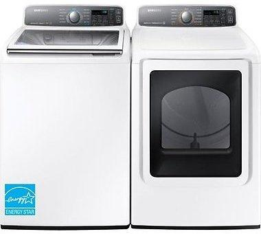 Samsung Top Load Washer With Front Load Electric Dryer