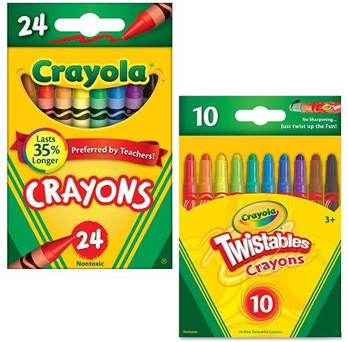 Durable 24-Pack Wide Variety Of Colors Crayons