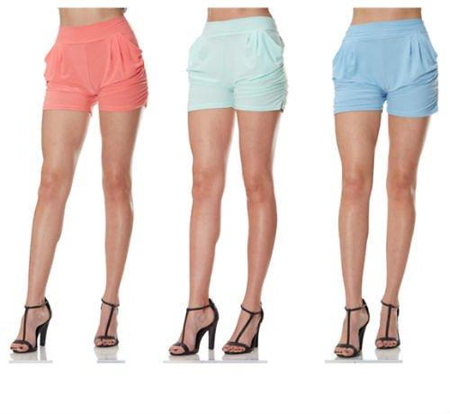 Alphabetdeal Ladies Harem Shorts With Two Side Pockets