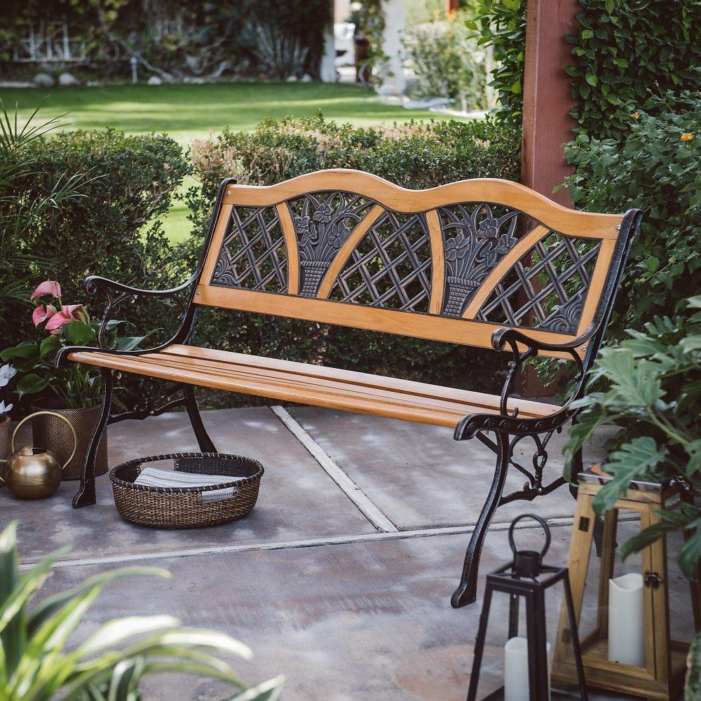 Stylish Vintage Double Curve Garden Bench