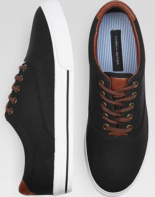 Tommy Hilfiger Paulie Black Canvas Sneakers