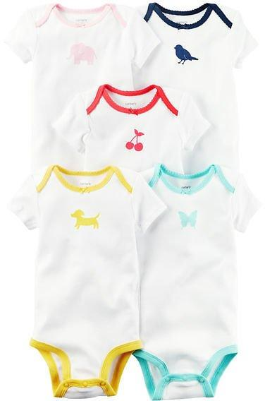 Imported Carter Short-Sleeve Bodysuits