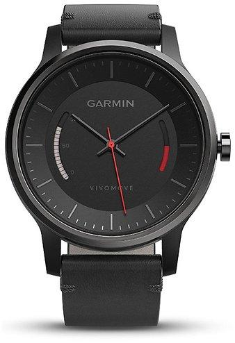 Black With Leather Band Garmin Vivomove Classic Activity Tracker