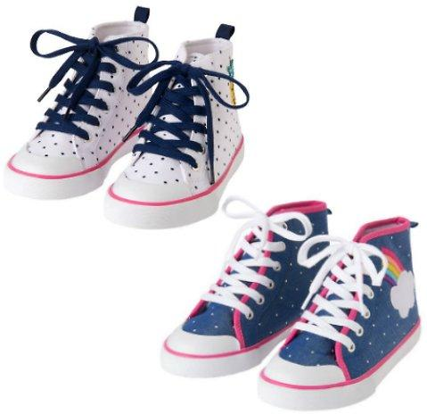 ManMade Materials Lace Up Style Hi-Top Gymboree Sneakers