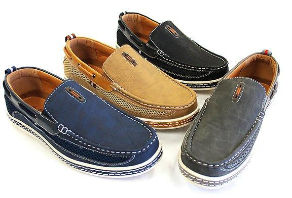 Men Nautical Inspired Casual Bonded Leather Slip On Loafers