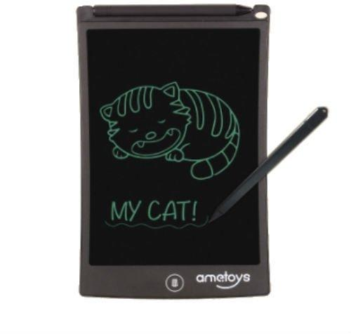 Black Ametoys 8.5 Inch LCD Writing Tablet Drawing