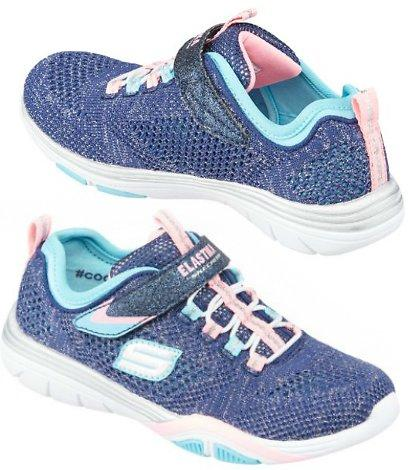 Knit Mesh Fabric Uppers SKECHERS Girls Stella Training Shoes