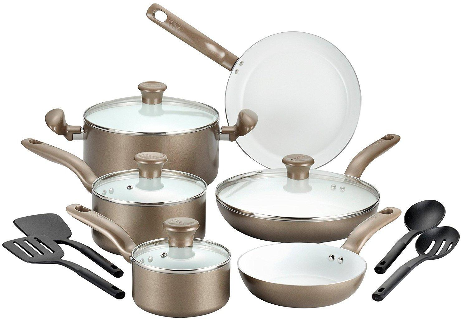 14 Piece Tfal Initiatives Cookware Set