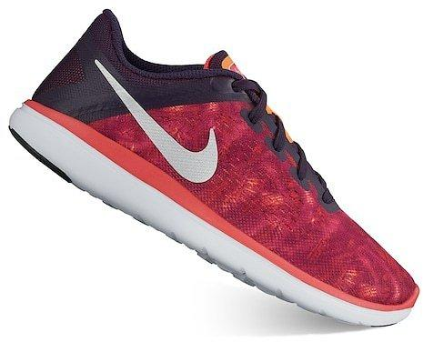 Nike Flex Run Grade School Girls Running Shoes