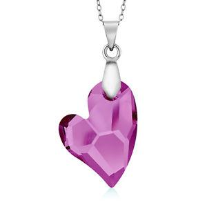 Devoted 2U Lavender Heart Pendant on 18 Chain Created with Swarovski® Crystals