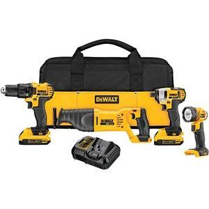 Dewalt DCK420D2 20V MAX Cordless Lithium-Ion 4-Tool Combo Kit - Reconditioned