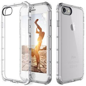 For Apple iPhone 7 Case Clear Hybrid Slim Shockproof Soft TPU Bumper Cover