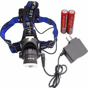 Zoomable 3 Modes T6 Super Bright LED Headlamp with 18650 Rechargeable Batteries