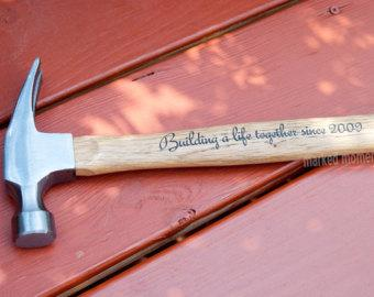 Engraved Hammer Personalized with Name, Monogram, or personal message of your choice 16oz  father's day groomsman best man gifts for guys