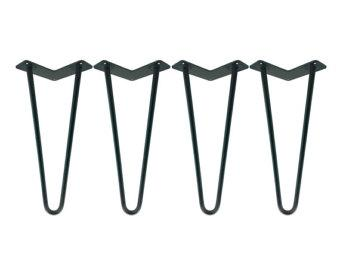 1/2 HEAVY DUTY Hairpin Legs Set of 4 - Raw Uncoated Steel, Hairpin Table Legs, Metal Table Leg, Mid Century Modern, Industrial Coffee Table