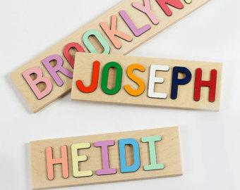 Personalized Kids Name Puzzle, Wooden Puzzle, Custom Name Puzzle
