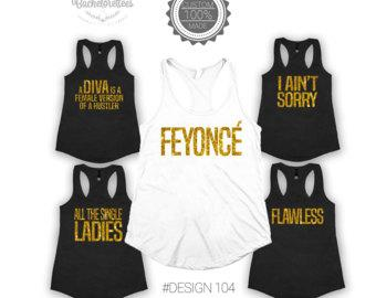 Feyonce Bachelorette tank tops, Girls weekend party tanks, Bachelorette tank top ideas, Feyonce tank top,gift for her, bridesmaid tanks