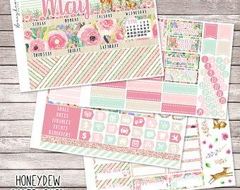May Monthly View || Erin Condren Life Planner || MAMBI Happy Planner || May Planner Stickers