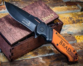 Gifts for Him, Engraved Knife, Groomsmen Knife Gift, Personalized Knife, Groomsmen Knives, Custom Knives, Hunting Knives, Camping Knife