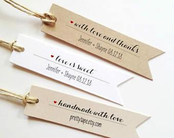 Personalized Tags Custom Tags Wedding Favor Tags Bridal Shower Tags Thank you tag Personalized Wedding Tags Wedding Gift Tag