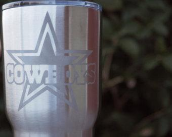 Cowboys Cup | Cowboys YETI | Cowboys RTIC | Personalized Cup | Etched Cup | Engraved Cup | Customized Cup | Dallas Cowboys | Cowboys