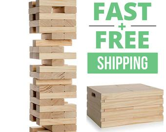 Giant Jenga Game w/ Optional Crate  **Fast & Free Shipping**
