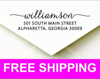 Personalized Custom Self Inking Return Address Stamp - Fast Free Shipping-Great Wedding or Housewarming Gift! - WEBCP2770