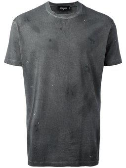 Dsquared2 - microstudded distressed T-shirt