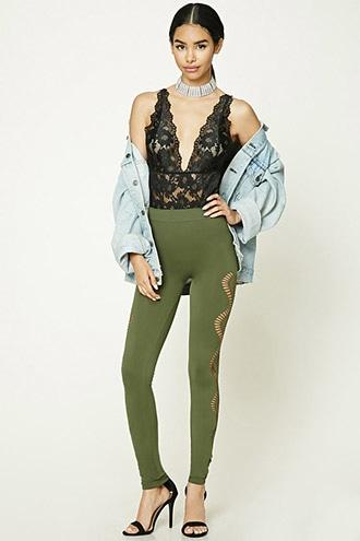 Ornate Cutout Leggings