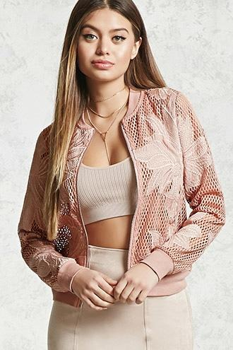 Open Mesh Embroidered Jacket