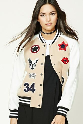 Fleece Varsity Patch Jacket