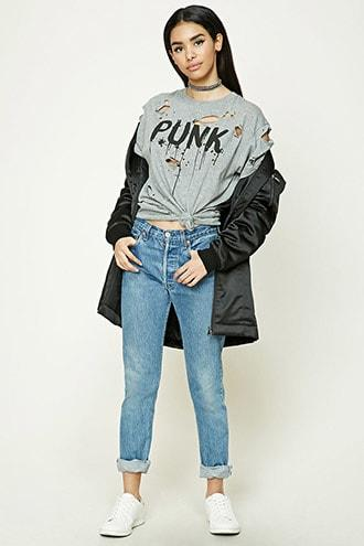 Distressed Punk Graphic Tee