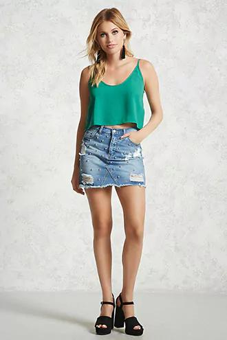 Scoop-Neck Cropped Cami