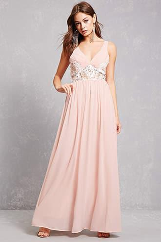 Soieblu Lace Panel Gown