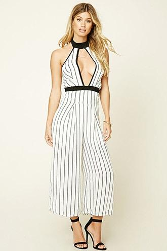 Haute Rogue Striped Jumpsuit