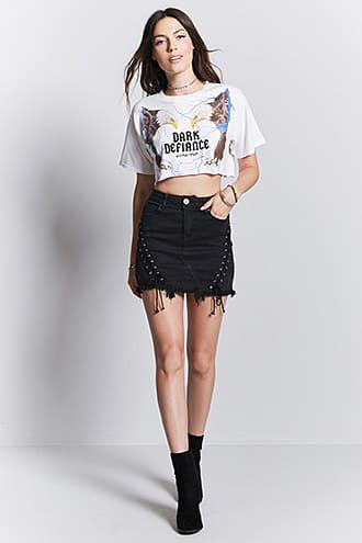 Dark Defiance Cropped Tee