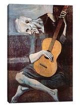 iCanvas - The Old Guitarist by Pablo Picasso Canvas Print