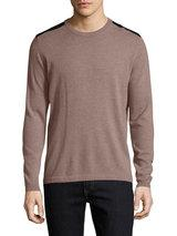 Autumn Cashmere - Cashmere Leather Patched Sweater